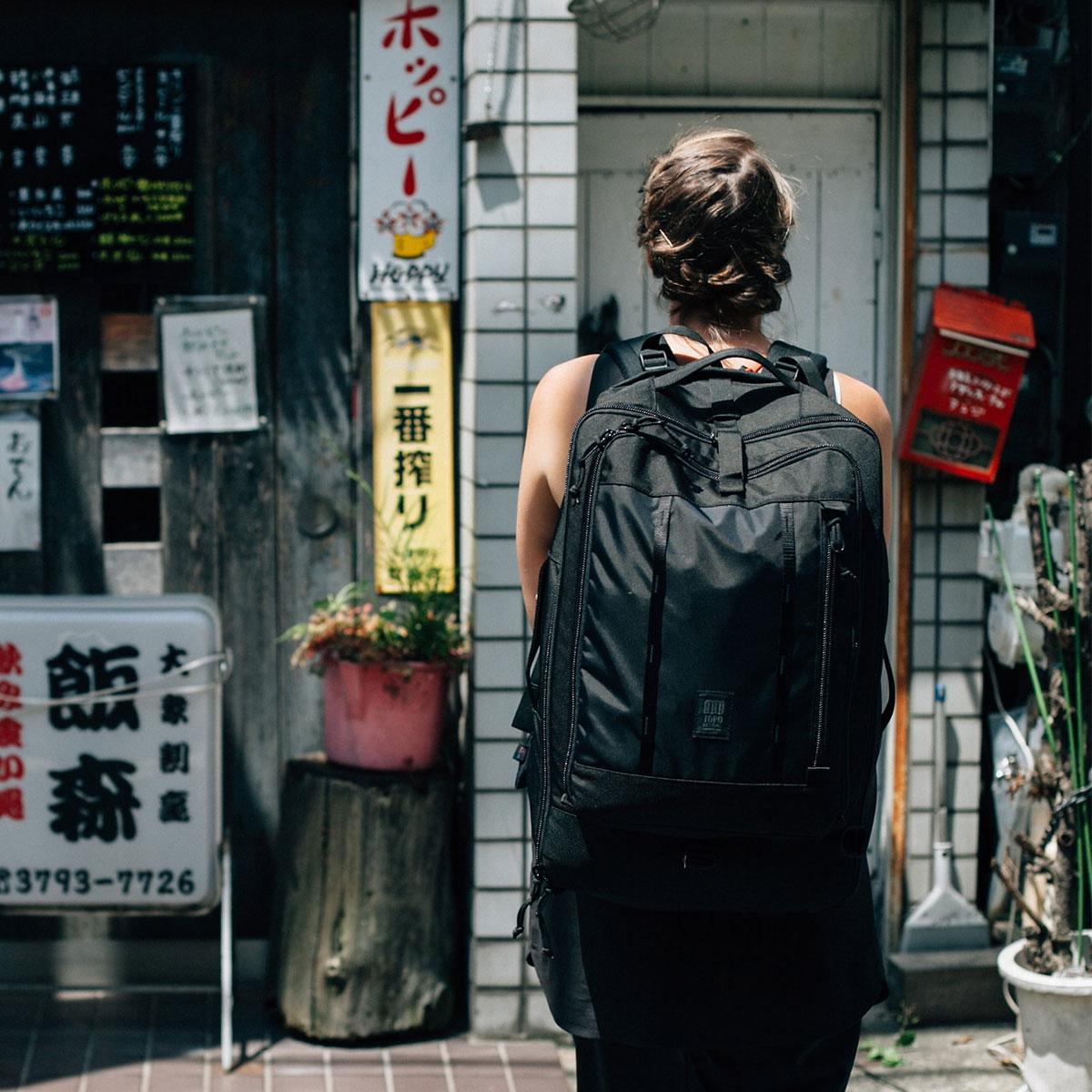Topo Designs Travel Bag Ballistic Black, the most versatile travel bag