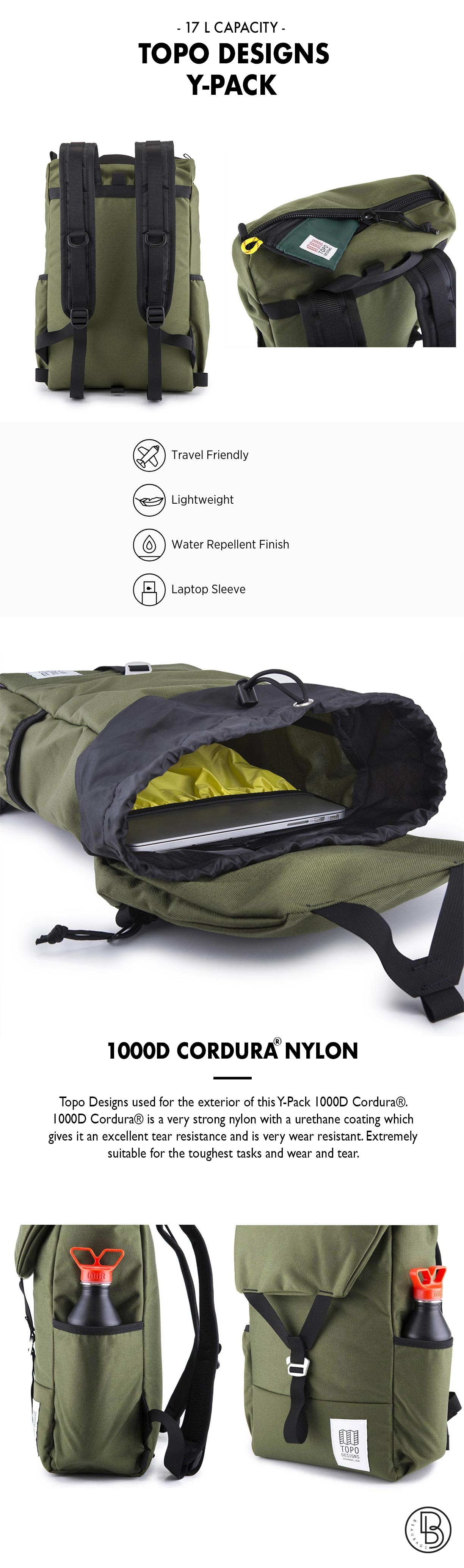 Topo Designs Y-Pack Olive productinformation