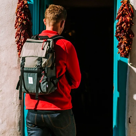 Topo Designs Rover Pack Olive/Navy,  timeless backpack with great functionalities