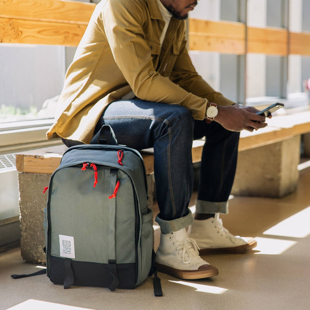 Topo Designs Core Pack Charcoal, ideal backpack for daily use