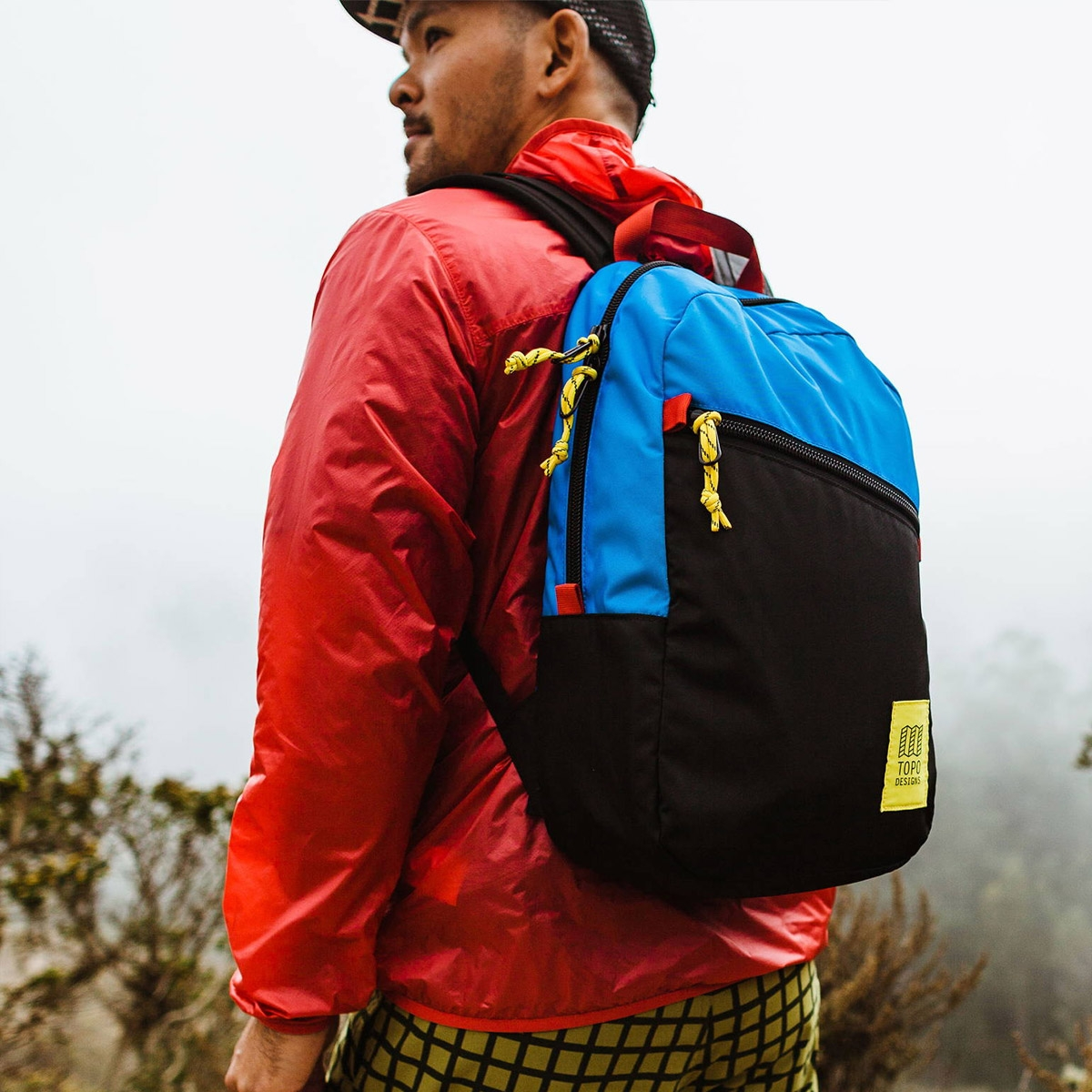 Topo Designs Light Pack Royal/Black, lightweight carry-all bag, also perfect pack for hiking