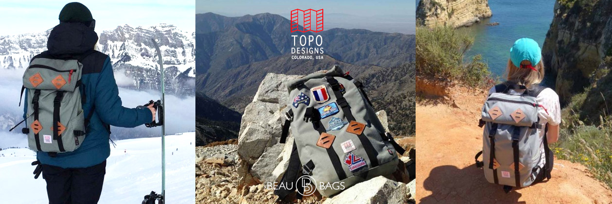 Topo Designs Klettersack Charcoal Lifestyle