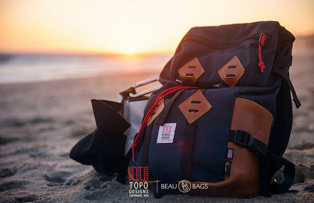 Topo Designs Klettersack Navy-Brown-Leather