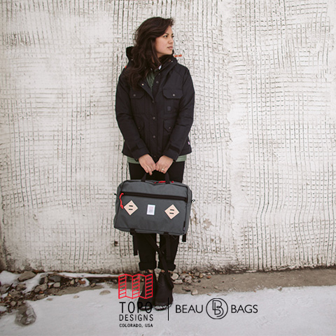 Topo Designs Mountain Briefcase Charcoal, for your work, in the city or a trip around the world