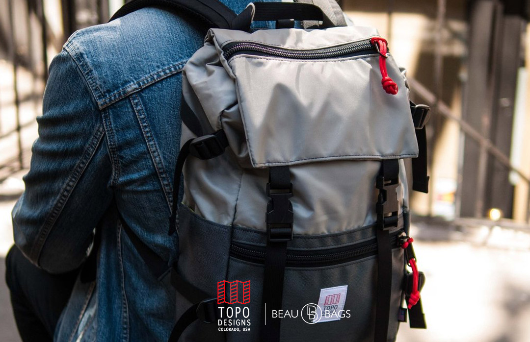 Topo Designs Rover Pack Silver Charcoal