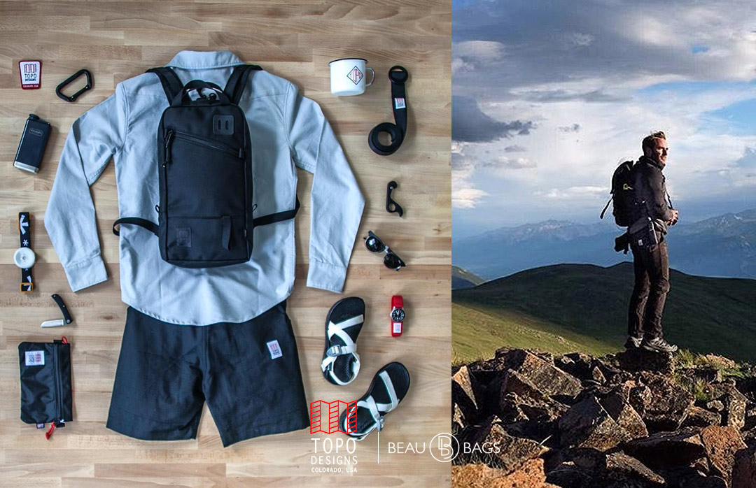 Topo Designs Trip Pack Ballistic Black, perfect bag for a day trip